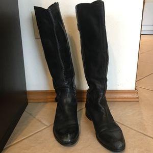 Garnet Hill tall leather boot